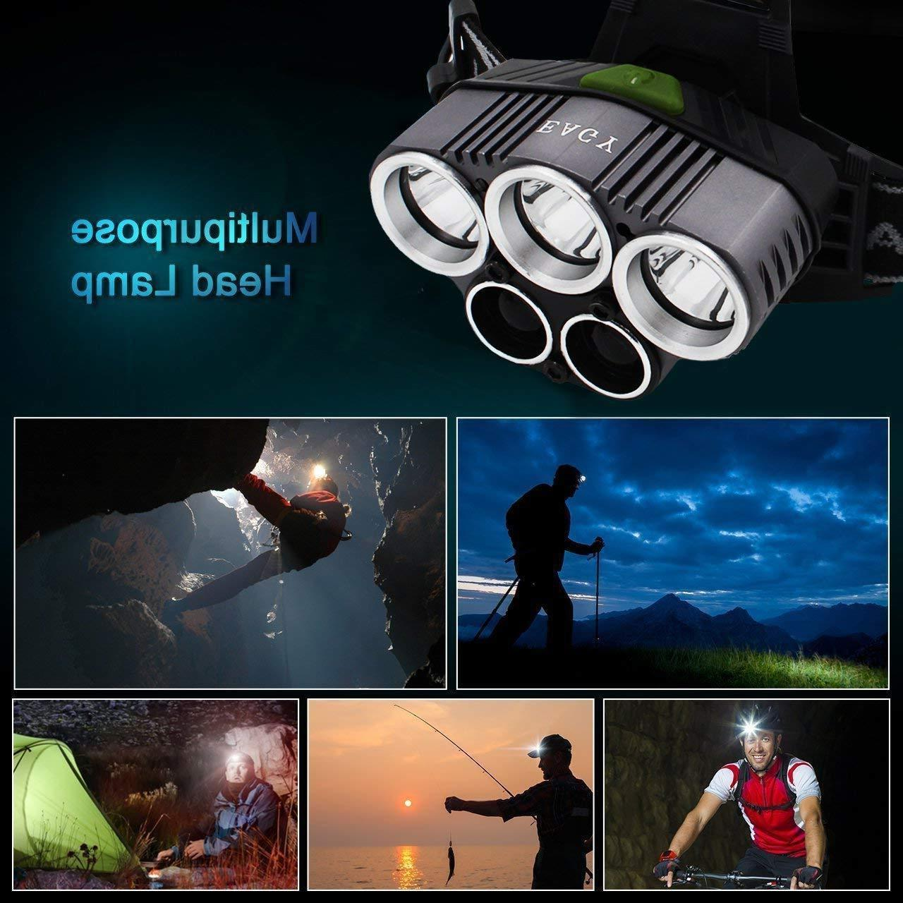 200000LM LED Headlamp Rechargeable Flashlight Lamp