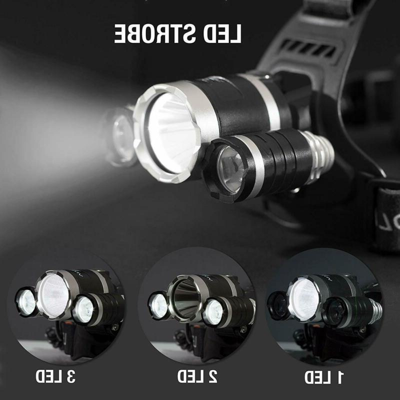 100000LM T6 LED Headlamp Torch Flashlight Work