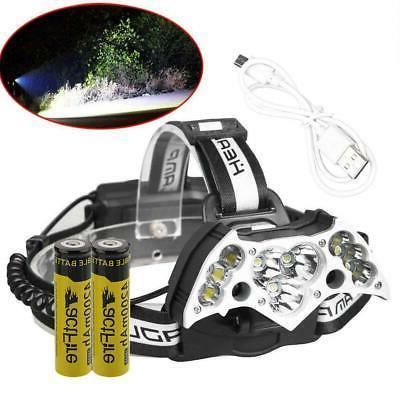 990000LM Rechargeable LED Headlamp Flashlight Head