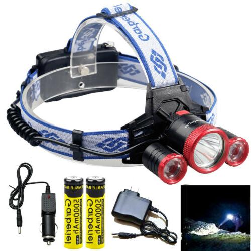 Garberiel 990000LM 3-T6 LED Headlamp Torch