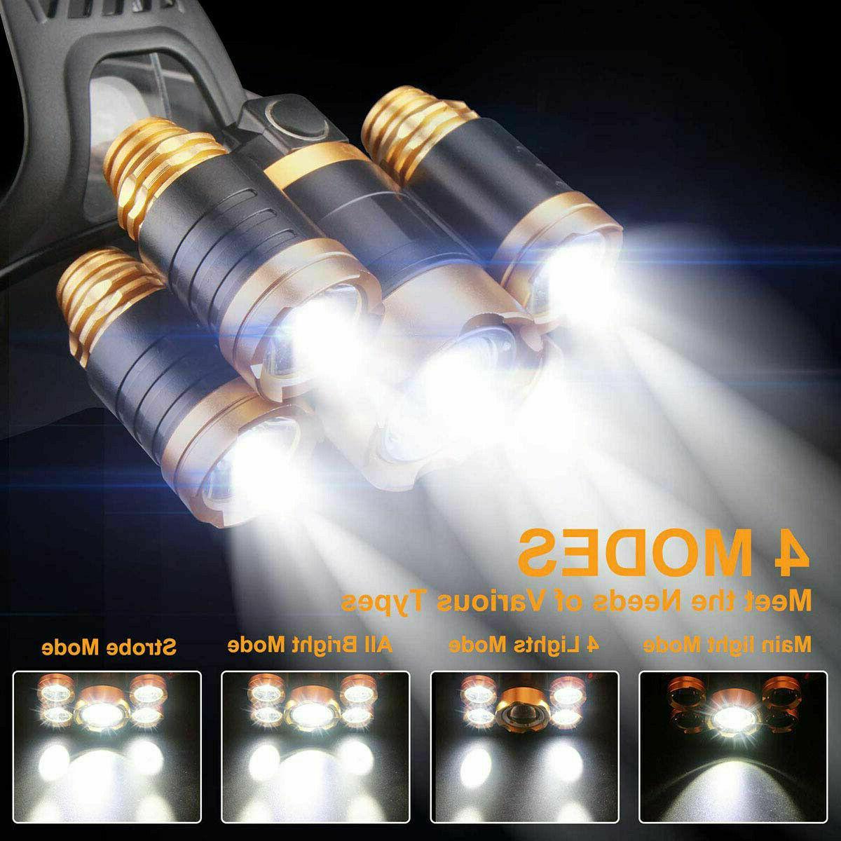 990000LM Headlamp Head Flashlight Torch