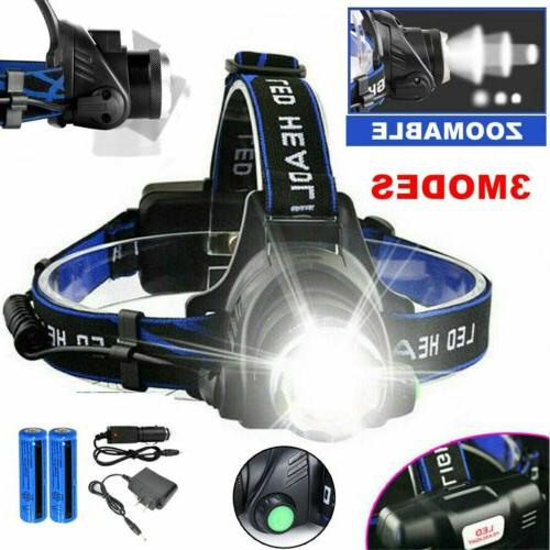 Rechargeable Tactical 350000LM T6 LED Headlamp 186*50 Headli