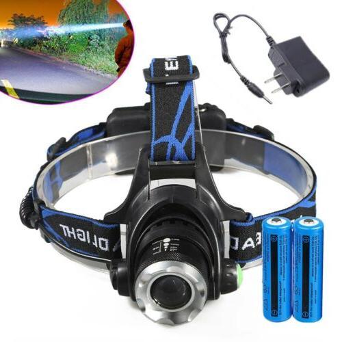 Rechargeable 900000LM LED Headlamp Tactical 18650Batt Headli