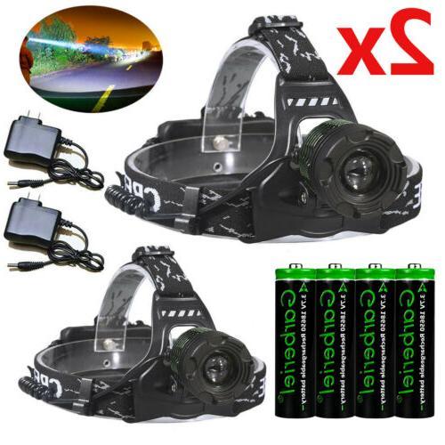 990000lm zoomable headlamp t6 led headlight flashlight