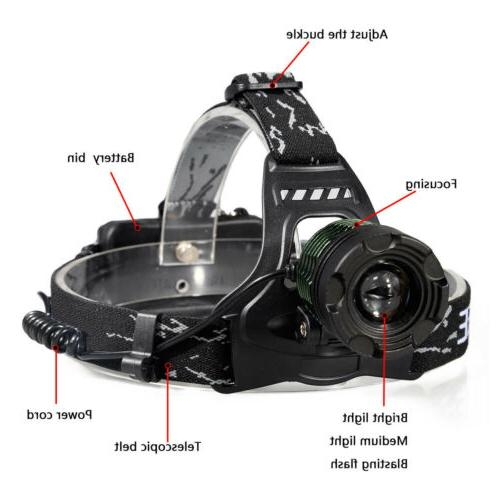 990000LM Zoomable T6 Headlamp Torch