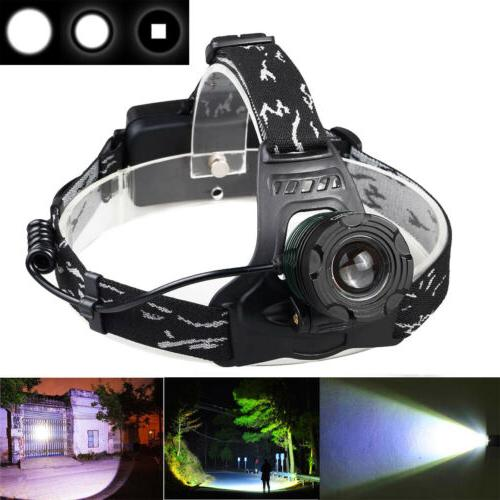 990000LM Zoomable T6 LED Headlamp Torch Mode