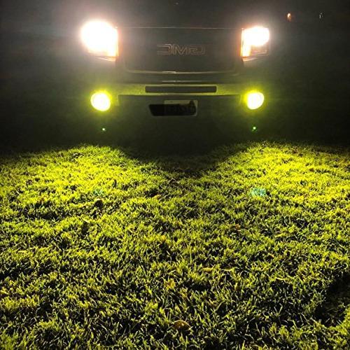 Alla Lighting Newest 2504 PSX24W LED Fog Light Bulb Power 27-SMD Super Bulb PSX24W LED Fog Light, Gold
