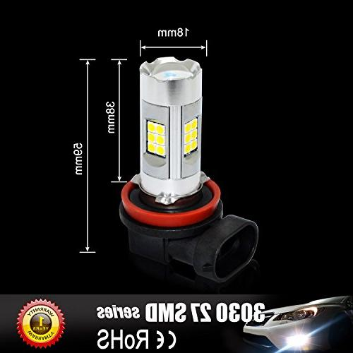 Alla Lighting Power 27-SMD Super Bright LED PSX24W Bulb for 12276 PSX24W LED Light, 3000K Gold Yellow