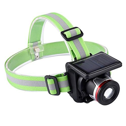 Focus Headlamps Adjustable LED With Solar Panel And Wall Cha
