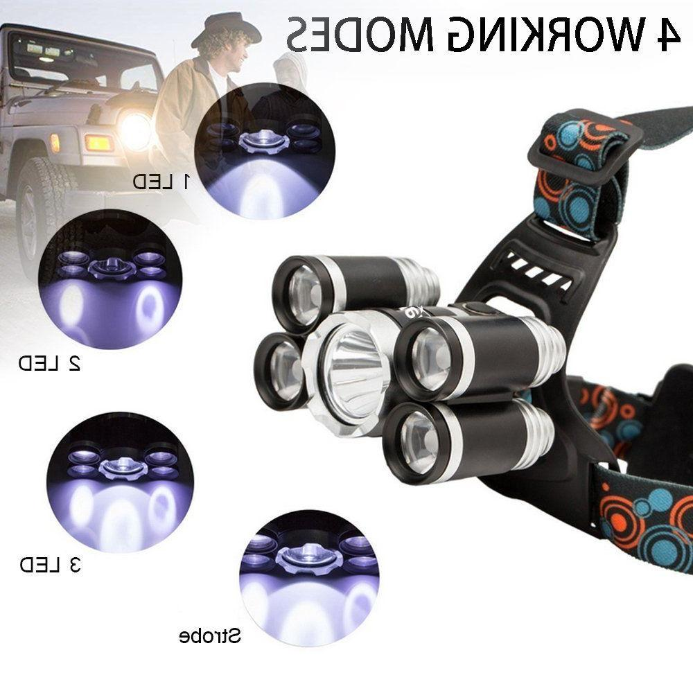 Super-bright 90000LM XM-L T6 LED Headlight Flashlight