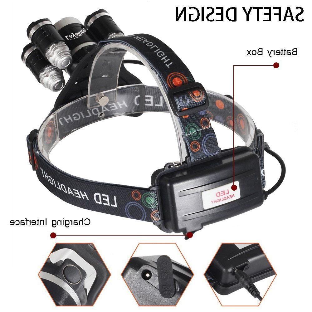Super-bright XM-L Headlight Flashlight Torch