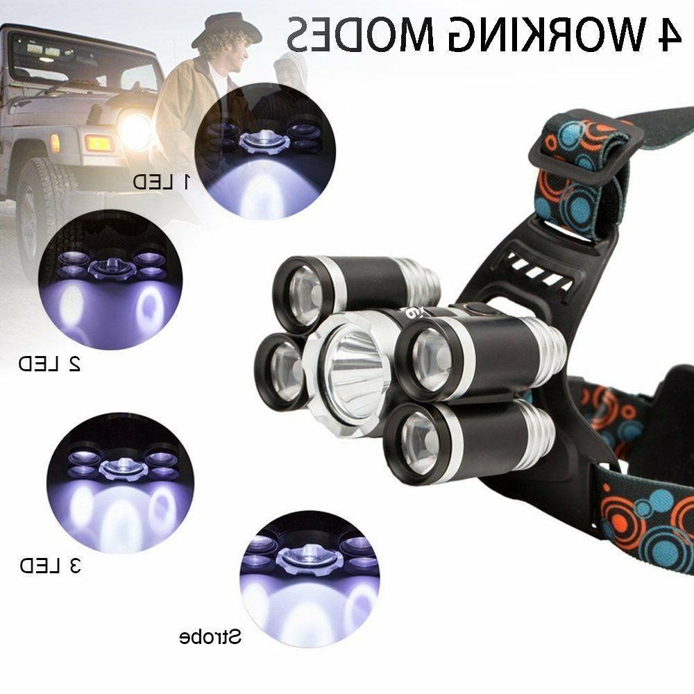 Super-bright 90000LM XM-L T6 LED Headlight Flashlight