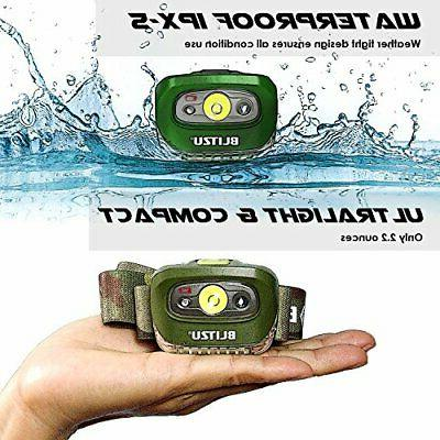 BLITZU Brightest Headlamp Flashlight 165 Lumen with White