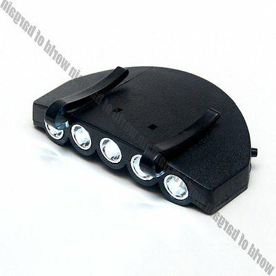 LED Cap Light On Camping Fishing 5 Headlamp +Battery