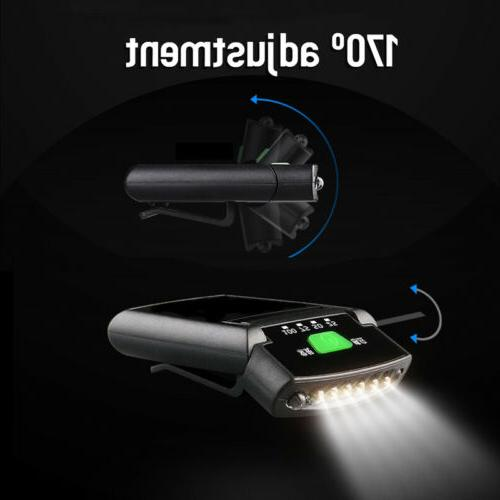 Clip-on Sensory Cap Lamp USB Headlight