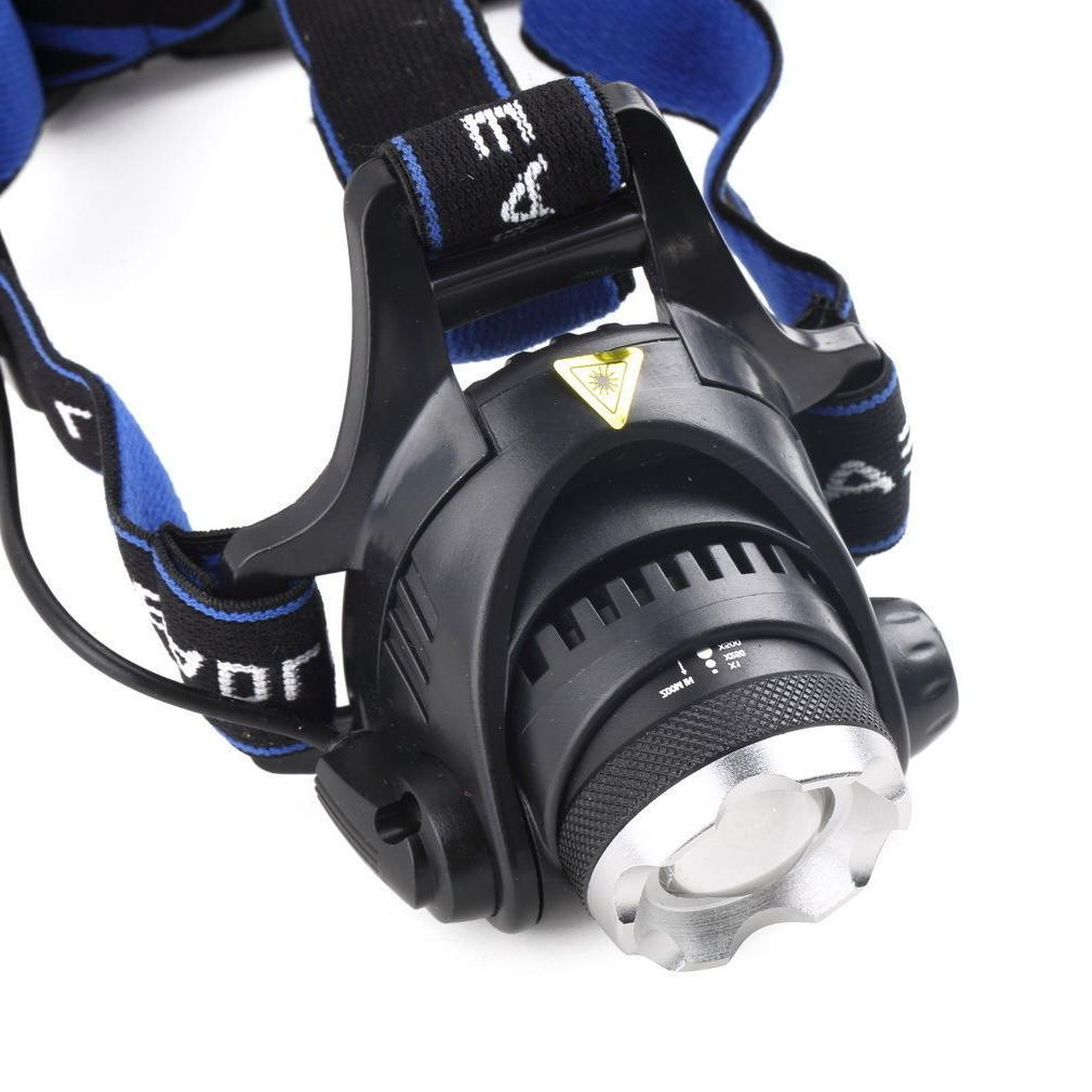 4000LM CREE XM-L LED HeadLamp Focus Zoomable + 18650 +