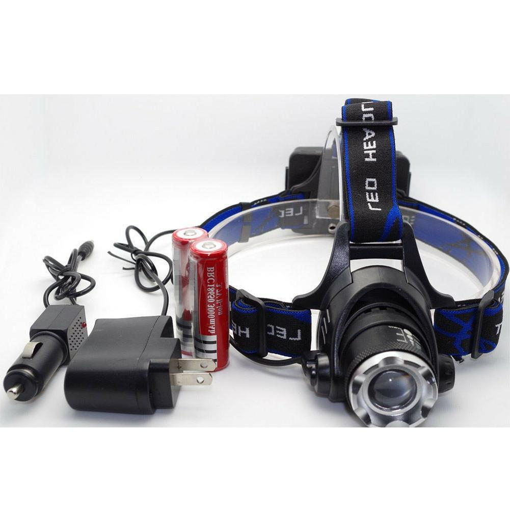 4000LM CREE XM-L LED Zoomable + + Charger