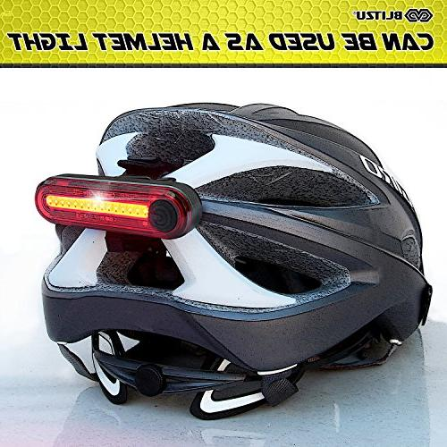 BLITZU 120T Rechargeable Bike Tail Light. Bright Bicycle Cycling Flashlight, Road, Helmets. Get The Front and Kids Men and