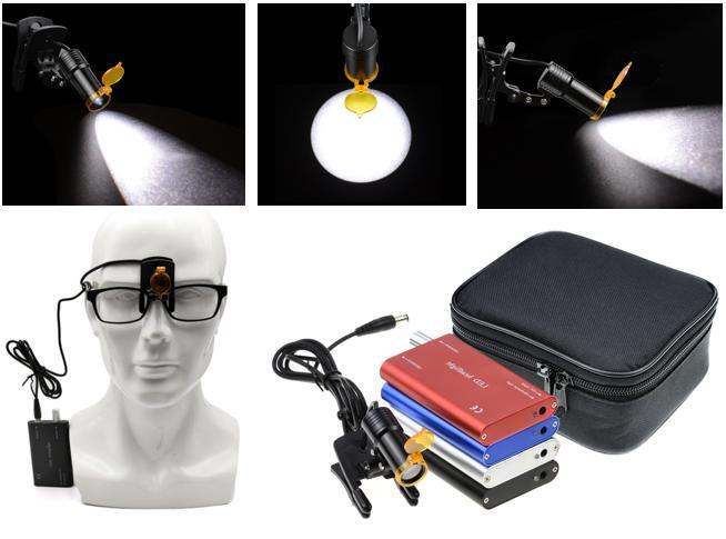 Dental 5W LED Plastic Clip Headlight Surgical Headlamp Binoc