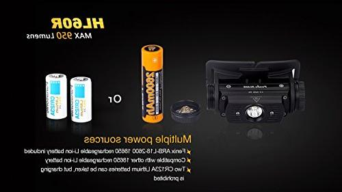 EdisonBright Fenix HL60R Lumen CREE XM-L2 LED 2 rechargeable batteries,ARE-X1 with back-up