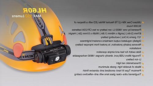 EdisonBright Lumen USB rechargeable XM-L2 T6 2 X Fenix 18650 rechargeable Li-ion batteries,ARE-X1 with 2 X back-up bundle