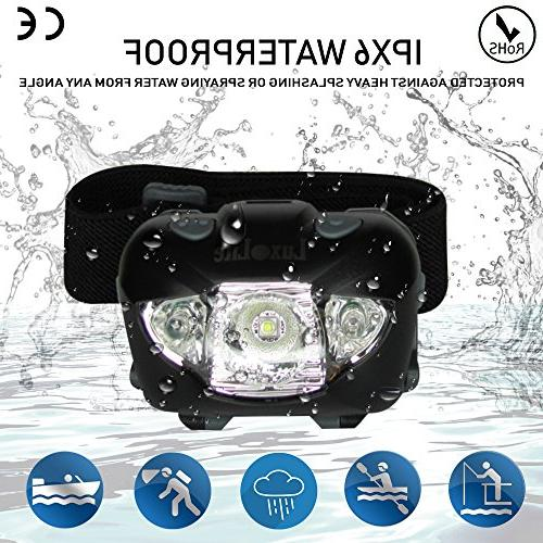 LED Headlamp with Red - Head - Brightest Headlight Camping Hiking Running Hunting - Headlamps -