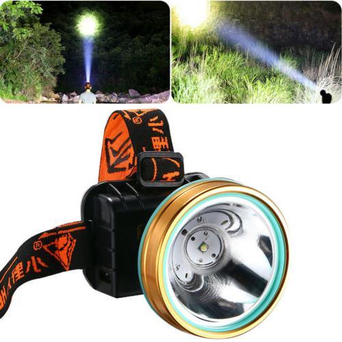 Hands Free Torch/Headlight LED Headlamp Work US