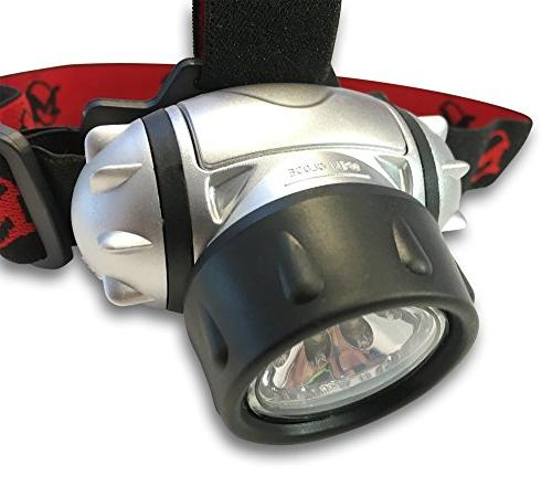 MhIL Battery Flashlight/Headlight Great for Camping, Working in The Dark, Using Without Hands Strap