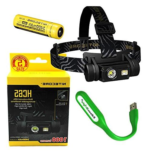 hc65 cree headlamp rechargeable li