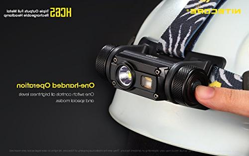 Nitecore HC65 USB White/Red/High Outputs 2X Batteries