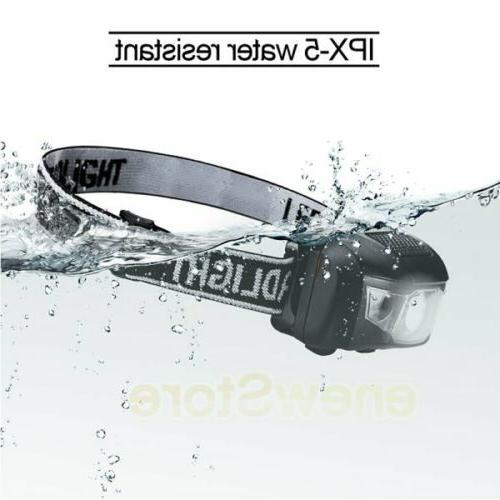 Head White Led Flashlight Headlamp Light