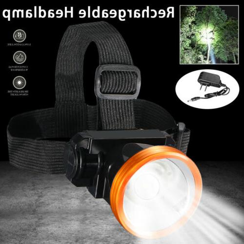 Head Torch LED Rechargeable Headlamp Flashlight Camping Fishing