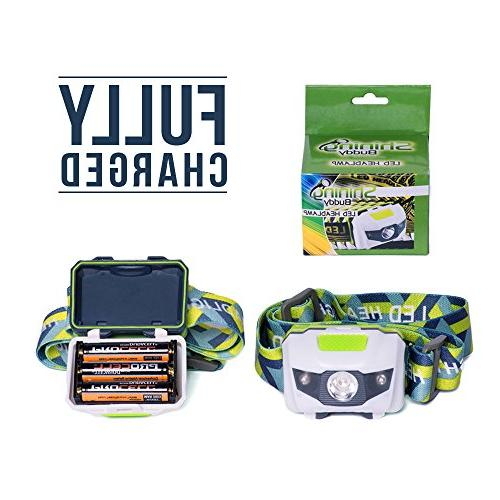 LED Headlamp - for Hiking, and of the Headlight. Water Shock with Strobe. Duracell Batteries