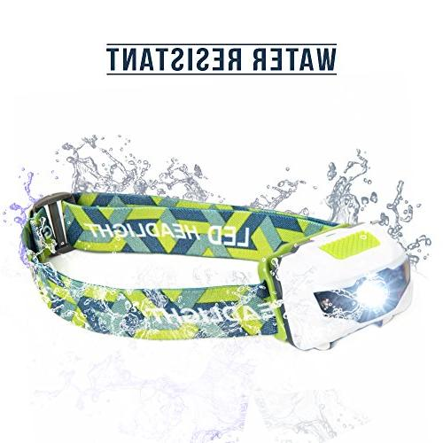 LED Headlamp - for Kids, and of the Lightest Water Shock with Batteries Included