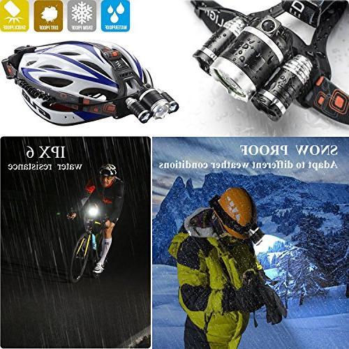 Led Headlamp,AstaaCity Lumen Flashlight,Rechargeable Headlight Light,Best Camping Running Hiking