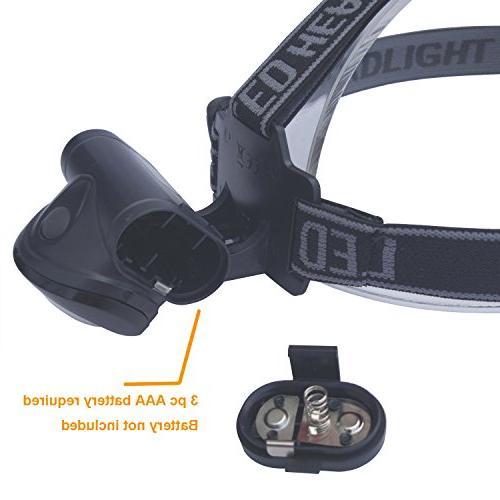 Lichamp Headlamp, 12 Portable Lamp Outdoor Lightweight for Reading, Black