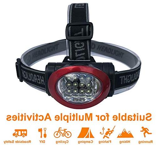 Lichamp Headlamp, 12 Portable Outdoor Lightweight for Fishing, Hunting, Black