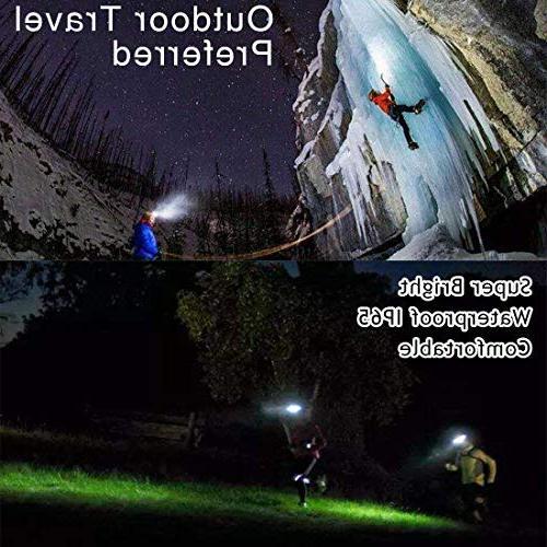 LED headlamps, LETOUR Headlamp, COB High Bright Flood Light Work Light Jogging, Bigger Battery Container, Super Time
