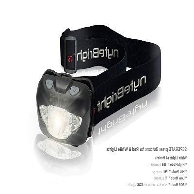 LED Headlamp with Red Light Headlight Running Backpacking Hunting Walking Reading - Lamp Light with FREE Batteries!