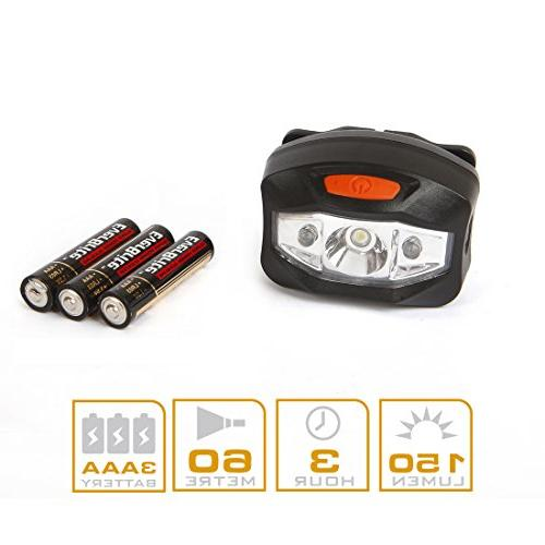EverBrite 6-pack Headlamp LED Flashlight Battery Operated 2 Red Batteries