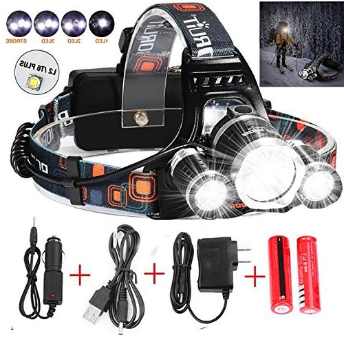 headlamp flashlight bright headlight waterproof