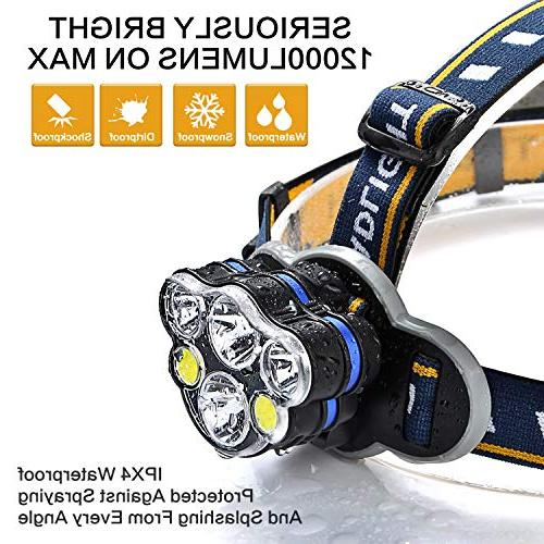 Headlamp lamps USB Rechargeable Headlight 8 and outdoor camping