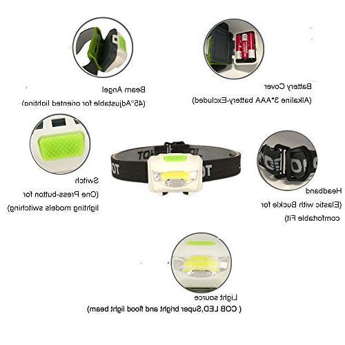 TOMOL 3W Super Flashlight for Reading, Hunting, Walking, Jogging - Headlamps Durable,