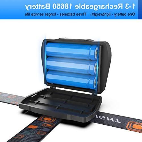 VICTONYUS 4 Lighting 18650 USB Rechargeable with Running, Walking,