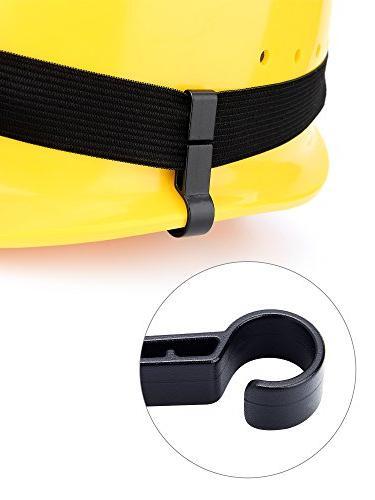 Hestya Pack Headlamp Clips for Helmets,