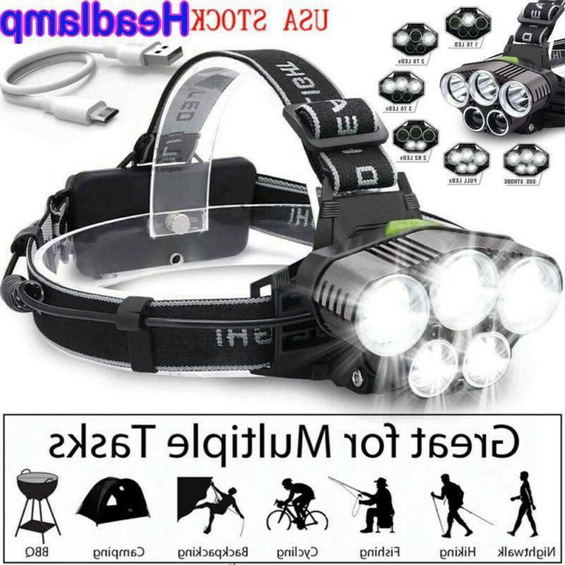 High LED Headlamp Rechargeable USA