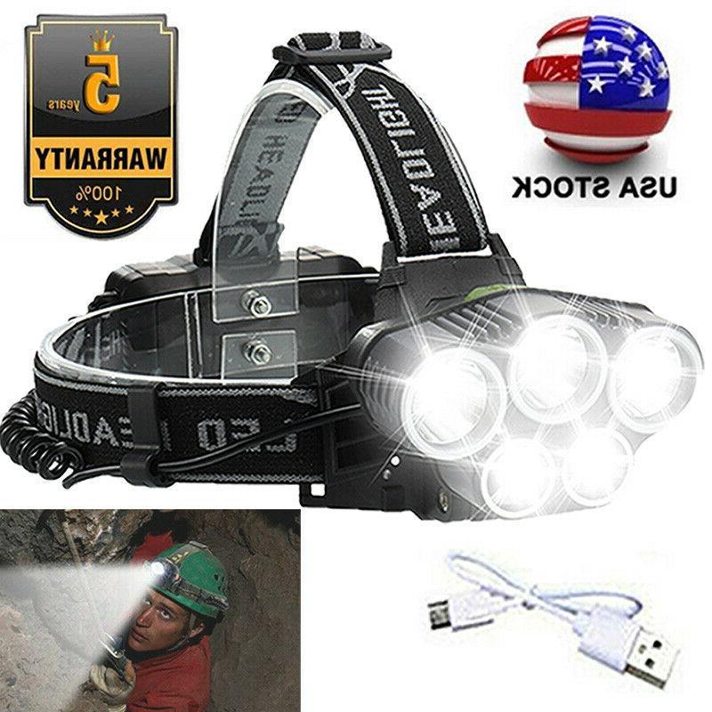 high power 350000lm t6 led headlamp headlight