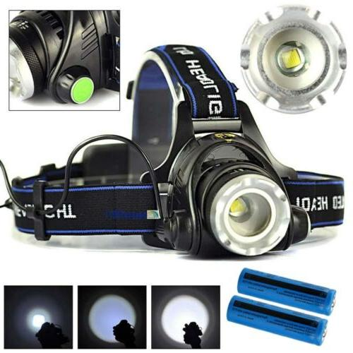 Rechargeable 900000LM LED Headlamp Tactical 18650Batt Headlight Torch