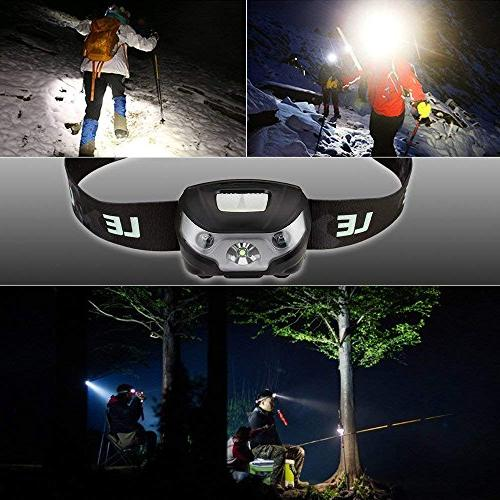 LE 5 Lighting Modes, Lightweight Headlight for Outdoor, Running, Reading and more, USB