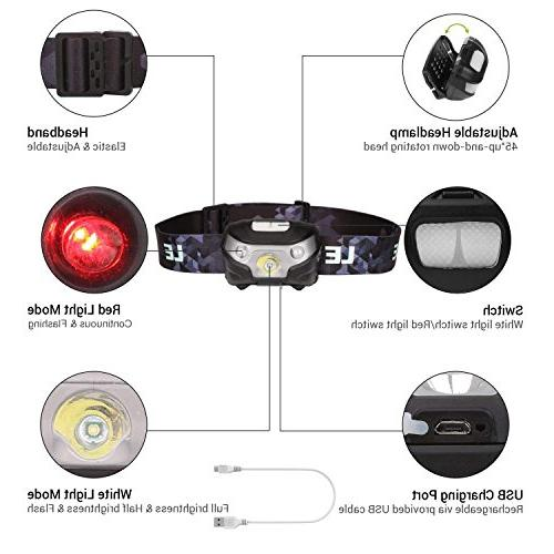 LE 5 Headlight Outdoor, Running, Hiking, Reading more,